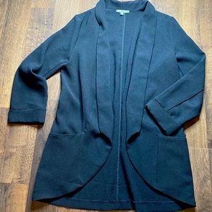 Black Tunic Length Blazer